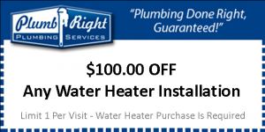 $100 Off Water Heater Installation