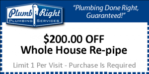 $200 Off Whole House Re-pipe