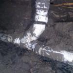 Broken plumbing drain under slab